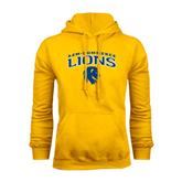 Gold Fleece Hoodie-Arched A&M Commerce Lions
