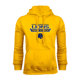 Gold Fleece Hoodie-Track and Field Stacked Ribbon Design