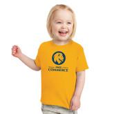 Toddler Gold T Shirt-Mascot AM Commerce
