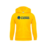 Youth Gold Fleece Hoodie-Flat A&M Commerce Lions