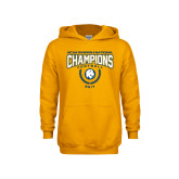 Youth Gold Fleece Hoodie-2017 National Football Champions