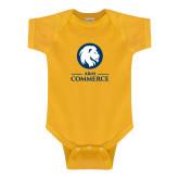 Gold Infant Onesie-Mascot AM Commerce