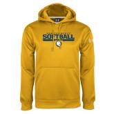 Under Armour Gold Performance Sweats Team Hoodie-Softball
