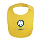 Yellow Baby Bib-Mascot AM Commerce