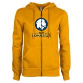 ENZA Ladies Gold Fleece Full Zip Hoodie-Mascot AM Commerce