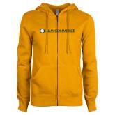 ENZA Ladies Gold Fleece Full Zip Hoodie-AM Commerce