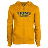 ENZA Ladies Gold Fleece Full Zip Hoodie-Lions Grandma