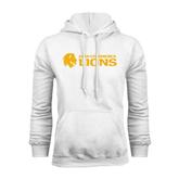 White Fleece Hoodie-Flat A&M Commerce Lions
