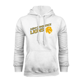 White Fleece Hoodie-Angled A&M Commerce Lions