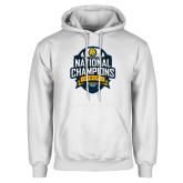 White Fleece Hoodie-2017 National Champions