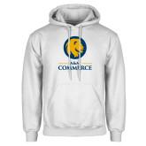 White Fleece Hoodie-Mascot AM Commerce
