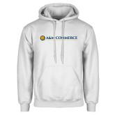 White Fleece Hoodie-AM Commerce