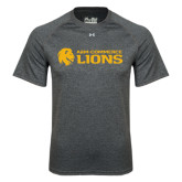 Under Armour Carbon Heather Tech Tee-Flat A&M Commerce Lions
