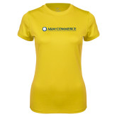 Ladies Syntrel Performance Gold Tee-AM Commerce