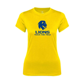 Ladies Syntrel Performance Gold Tee-Track and Field