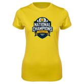 Ladies Syntrel Performance Gold Tee-2017 National Champions