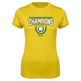 Ladies Syntrel Performance Gold Tee-2017 National Football Champions