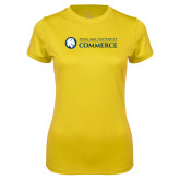 Ladies Syntrel Performance Gold Tee-Texas A&M University Commerce