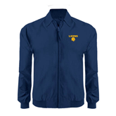 Navy Players Jacket-Stacked Lions with Head