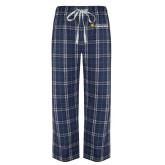 Navy/White Flannel Pajama Pant-Texas A&M University Commerce