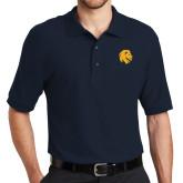 Navy Easycare Pique Polo-Mascot Logo