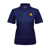 Ladies Navy Dry Mesh Polo-Official Logo