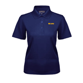 Ladies Navy Dry Mesh Polo-Flat A&M Commerce Lions