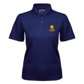 Ladies Navy Dry Mesh Polo-Alumni