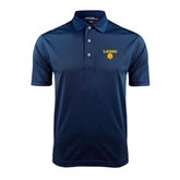 Navy Dry Mesh Polo-Stacked Lions with Head