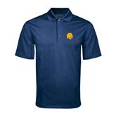 Navy Mini Stripe Polo-Official Logo
