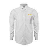 Mens White Oxford Long Sleeve Shirt-Flat A&M Commerce Lions