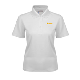 Ladies White Dry Mesh Polo-Flat A&M Commerce Lions