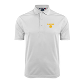 White Dry Mesh Polo-Stacked Lions with Head