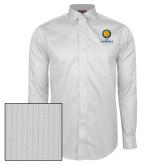Red House White Dobby Long Sleeve Shirt-Mascot AM Commerce