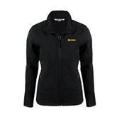 Ladies Black Softshell Jacket-Flat A&M Commerce Lions