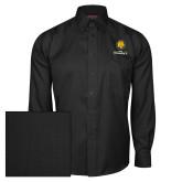 Red House Black Herringbone Long Sleeve Shirt-Mascot AM Commerce