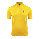 Gold Dry Mesh Polo-Stacked Lions with Head