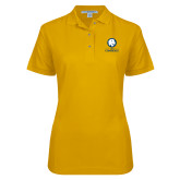 Ladies Easycare Gold Pique Polo-Mascot AM Commerce