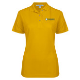 Ladies Easycare Gold Pique Polo-Texas A&M University Commerce