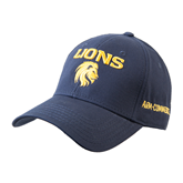 Navy Heavyweight Twill Pro Style Hat-Stacked Lions with Head