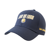 Navy Heavyweight Twill Pro Style Hat-Angled Lets Go Lions