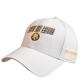White Heavyweight Twill Pro Style Hat-Angled Lets Go Lions