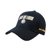 Black Heavyweight Twill Pro Style Hat-Angled Lets Go Lions