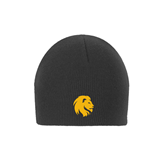 Charcoal Knit Beanie-Official Logo