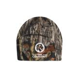 Mossy Oak Camo Fleece Beanie-Mascot AM Commerce