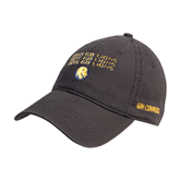 Charcoal Twill Unstructured Low Profile Hat-Angled Lets Go Lions