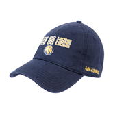 Navy Twill Unstructured Low Profile Hat-Angled Lets Go Lions