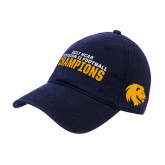 Navy Twill Unstructured Low Profile Hat-Football Champions NCAA Division II
