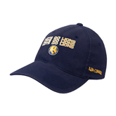 Navy OttoFlex Unstructured Low Profile Hat-Angled Lets Go Lions