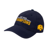 Navy OttoFlex Unstructured Low Profile Hat-Football Champions NCAA Division II
